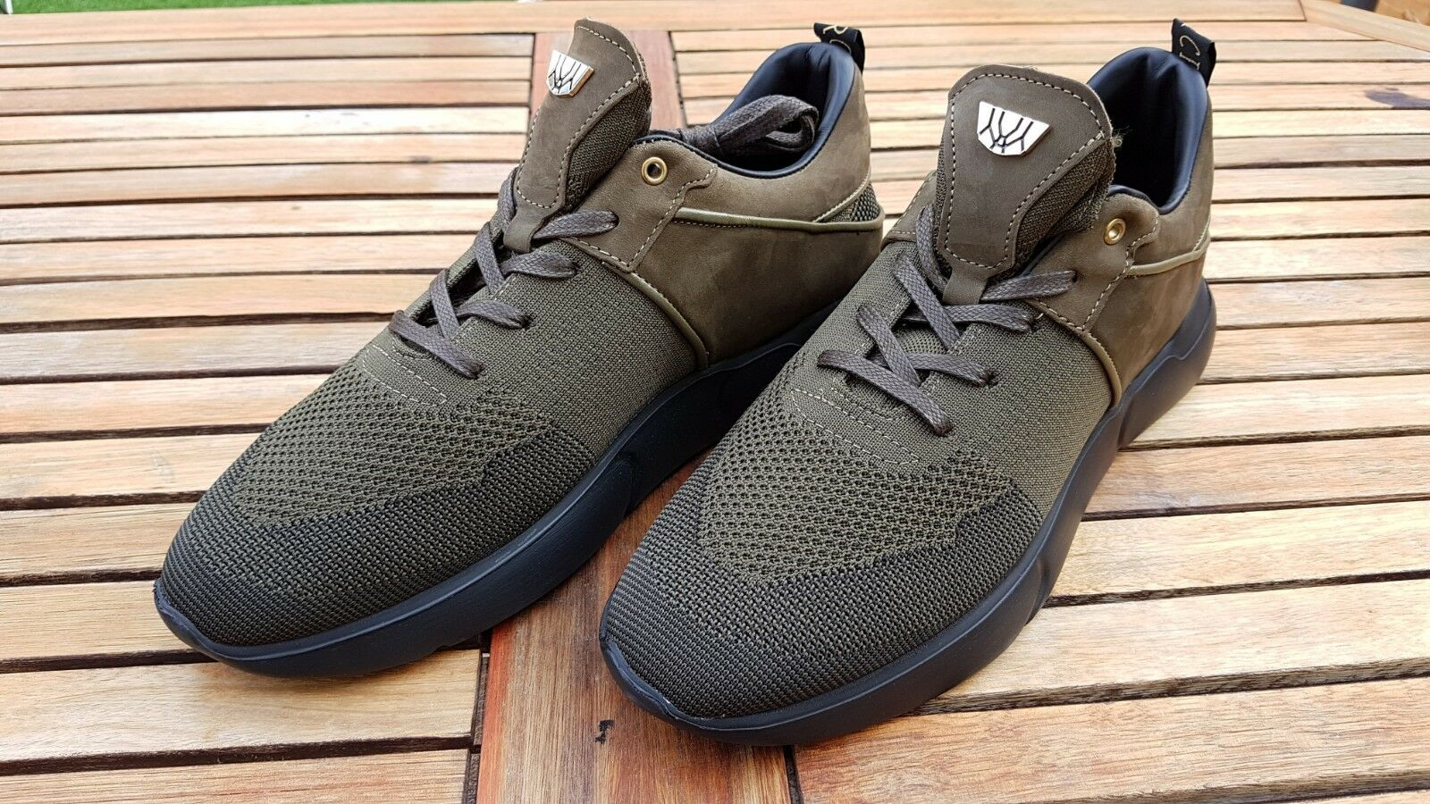 Mercer Amsterdam WOOSTER EVO Olive Chaussure TRAINER baskets Taille  UK 10 EU 44