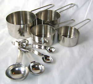 NEW-8-PIECE-MEASURING-SPOONS-AND-CUPS-SET-STAINLESS-STEEL-APOLLO