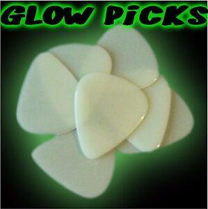 36 X Glow In The Dark Lumineux électrique Plectrums Picks Electric Acoustic Guitar-afficher Le Titre D'origine