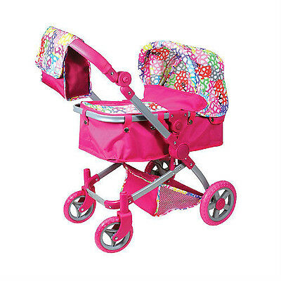 R- PINK DOLL STROLLER PRAM CARRIAGE MULTIFUNCTION LISSI BITTY BABY AMERICAN GIRL