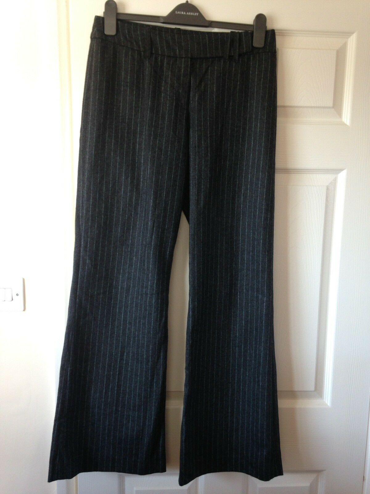 Great Plains Charcoal Pinstriped Trousers Size 12