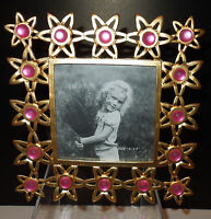 Gold & Pink Flowers/stars 4 X 4 Square Picture Frame