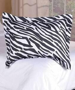 ZEBRA Pillow Case Girls Bedroom Sham Animal Print Pillowcase Bedding