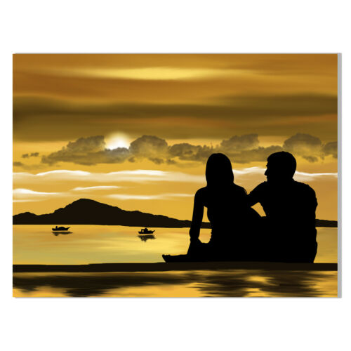 Couples Canvas Painting Poster Unframed Picture Living Room Wall Home Art Decor