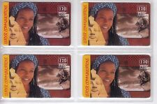 4 TELECARTE / PHONE CARD .. FRANCE PREPAYEE LEADER EGYPTE MIX 1  DIFFERENTS A4