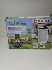 "GoSports Giant 2.5"" Wooden Playing Dice Set With Bonus Rollzee Scoreboard 6 and"