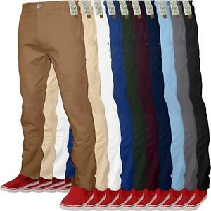 Mens-Chino-Classic-Regular-Fit-Trouser-Casual-Stretch-Spandex-Pants-Size-32-40