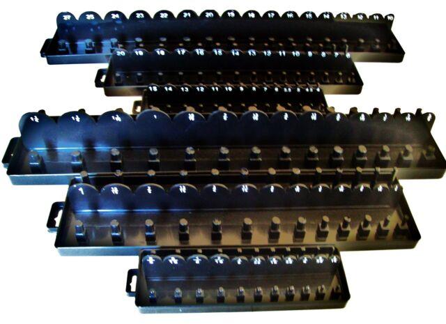 168pc GOLIATH INDUSTRIAL SOCKET TRAY RACK RAIL HOLDERS RED//BLACK DEEP SHALLOW
