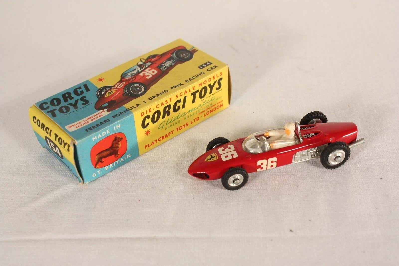 Corgi Toys 154, Ferrari Formula 1, Mint in Box                      ab619    Öffnen Sie das Interesse und die Innovation Ihres Kindes, aber auch die Unschuld von Kindern, kindlich, glücklich