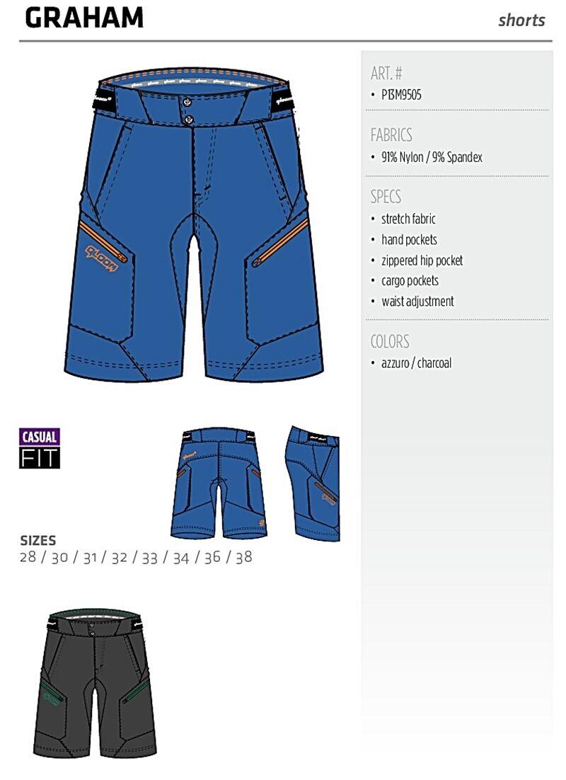 QLOOM GRAHAM stretch shorts Trainning apparel M's Azzuro Cycling