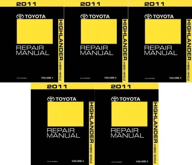 2011 toyota highlander hybrid maintenance schedule