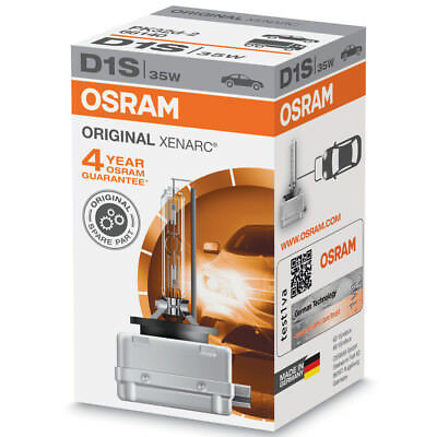 OSRAM Xenarc D1S Standard Replacement Xenon HID Car Bulb (Single Bulb)
