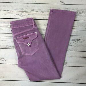 Hudson-Beth-Mid-Rise-Crop-Baby-Boot-Jeans-Size-26-Womens-Lavender-WMC176WAP