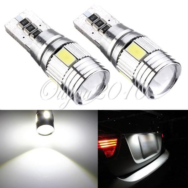 2xAmpoule T10 194 168 W5W 5630 LED 6 SMD Canbus Sans Anti Erreur Blanc Lampe 12V