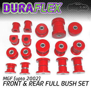MGF-upto-2002-FRONT-amp-REAR-BUSH-SET-Red-Duraflex-Polyurethane