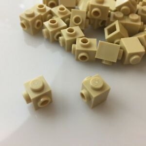 "modular NEW Corner 1X1 W 26604//6175968 /""Tan/"" LEGO x50 Brick Yellow 2 Knobs"