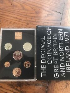 1971 Coinage of Great Britain & Northern Ireland Royal Mint proof set