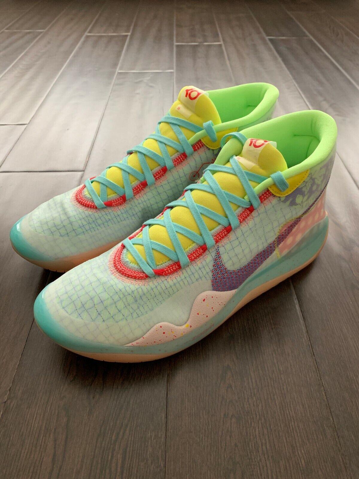 87023edac64 Nike Zoom KD12 Peach Jam EYBL NRG Basketball Shoes Men's 10.5 Kevin Durant  KD 12