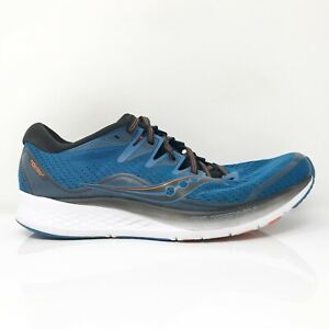 Saucony Mens Ride ISO 2 S20514-25 Blue Black Running Shoes Lace Up Size 11.5