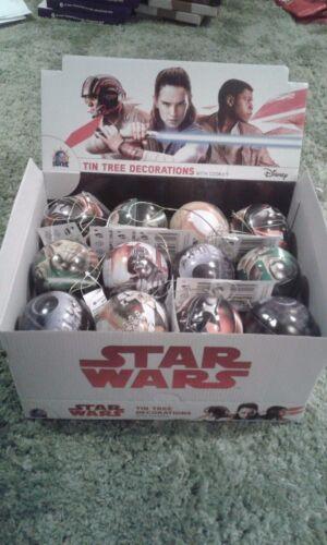 Coffret Disney Star Wars Baubles X 24 Tin cadeau de Noël Cadeau Décoration Arbre