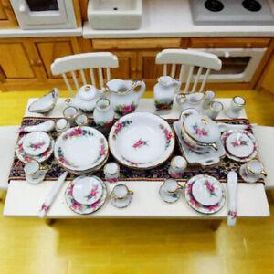 40Pcs-set-1-12-Dollhouse-Miniature-Tableware-Porcelain-Ceramic-Tea-Cup-Dis-Jy