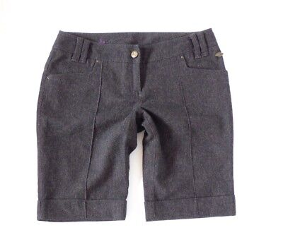 Miele Women's Vintage S Oliver Smart Chiusura Zip Equitazione Marrone In Tweed Lana Pantaloni Corti W34 L12-mostra Il Titolo Originale