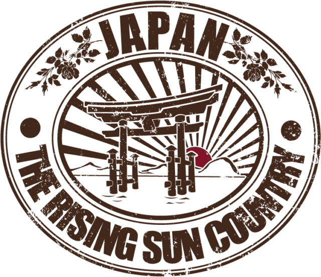 "Japan Rising Sun Country Travel Car Bumper Sticker Decal 5"" x 4"""