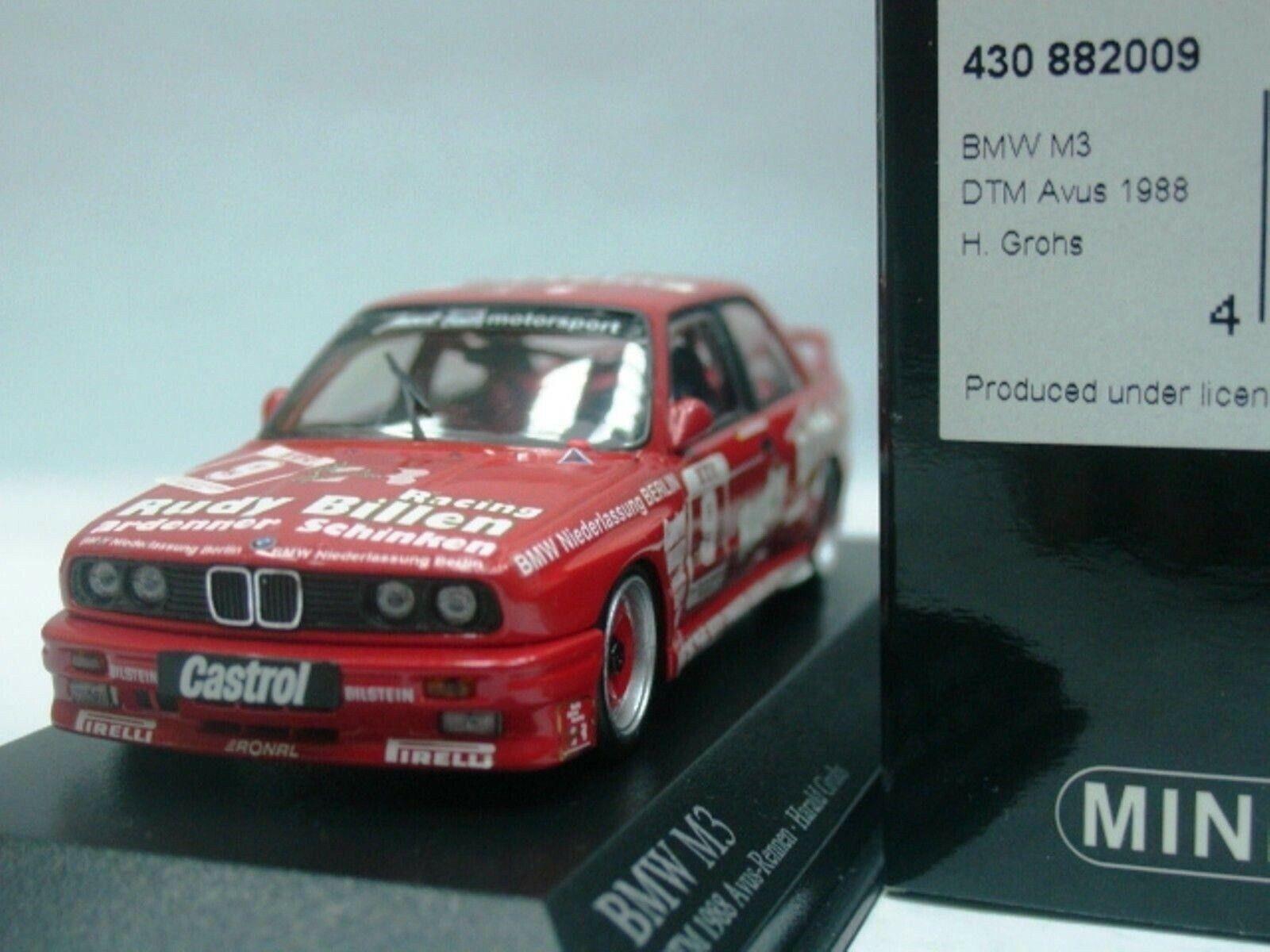 WOW EXTREMELY RARE BMW M3 E30 DTM 1988 Billen Grohs Avus 1 43 Minichamps-635
