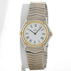 Ebel-Classic-Wave-18k-yellow-gold-and-stainless-watch-ref-181909