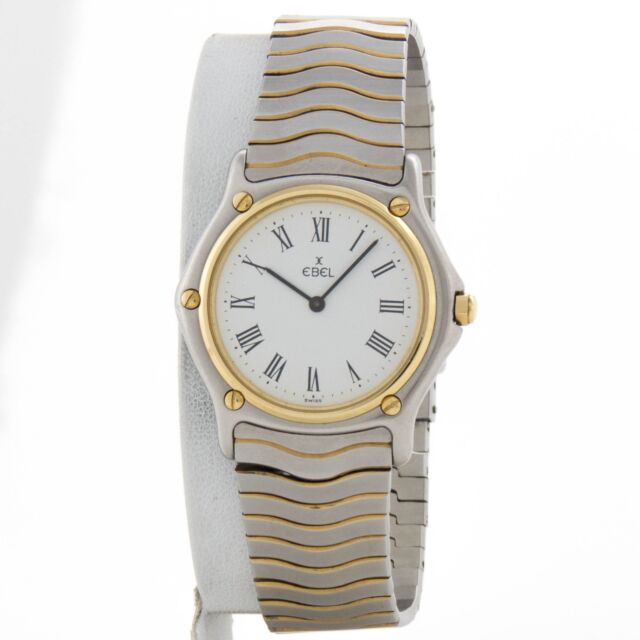 Ebel's Classic Wave 18k yellow gold and stainless watch  ref 181909