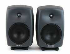 Genelec 8040a Bi-Amplified Studio Monitors Speaker Pair 8040-A