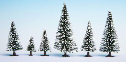 Noch 26929 5-9 cm Snow Fir Trees Model 5-Piece