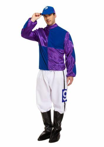 FUNNY adulto Hard Rider Cavallo Jockey Da Uomo Fancy Dress Stag Party Costume Outfit