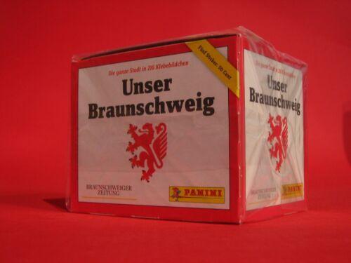 Panini Braunschweig collectionne Braunschweig Display 250 Autocollants OVP 50 pochettes
