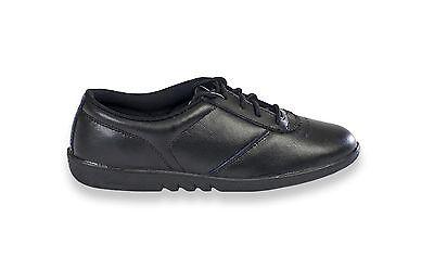 Señoras confort lazada Walker Cuero Casual trabajo Blanco Lavable Zapatos Negros