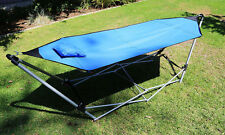 New Portable Folding Porch Camping Hammock Lounge Bed Cot With Stand