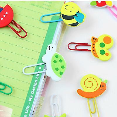 2× Unique Design Cute Cartoon Animal Shape Paper Note Clip Bookmark