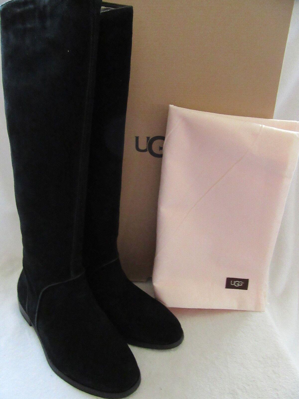 UGG Australia 1017344 bottes en daim en cuir noir Gracen US 8.5 EUR 39.5 NWB