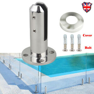 Glass Fence Clamp Pool Stairs Railing Stainless Steel Glass Spigot Mount Feet UK