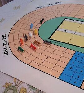 Tak Tik Trot Harness Horse Racing Board Game Vintage Ebay