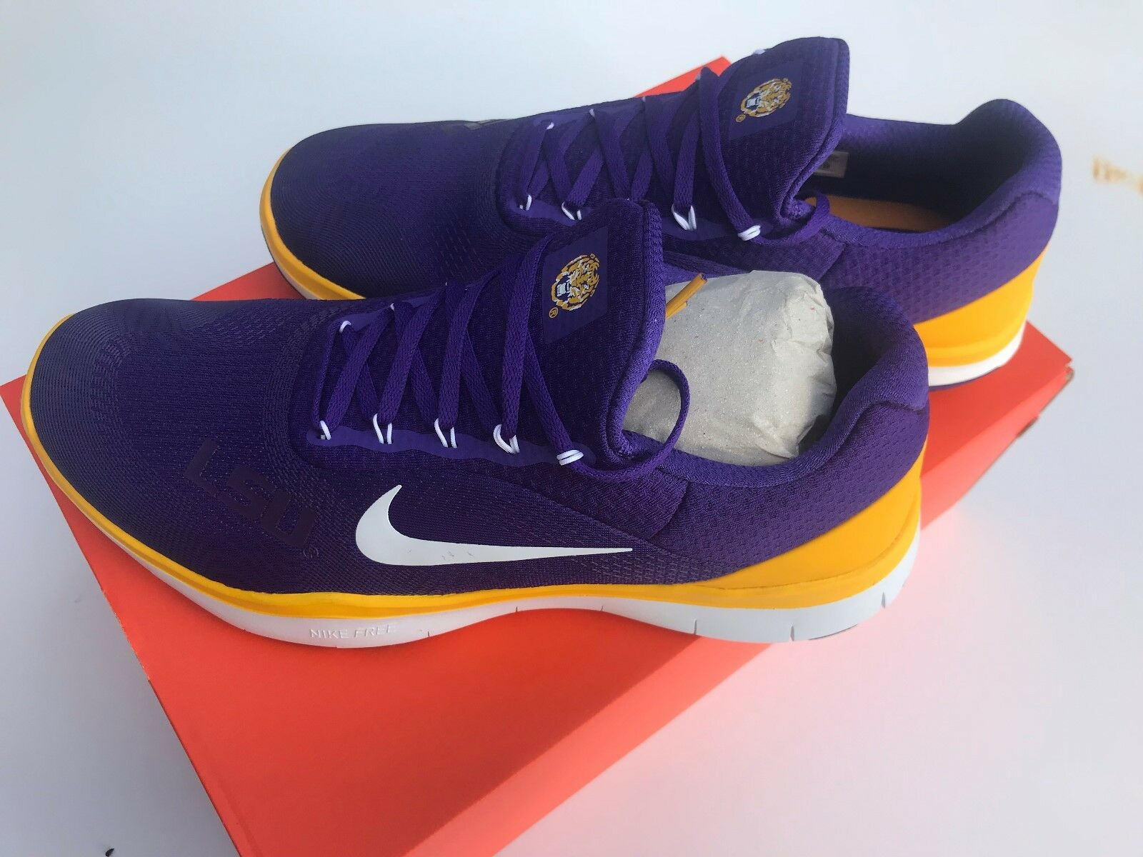 Men's Nike Free Trainer V7 LSU Tigers Shoes Sneakers New NIB Athletic  Cheap and beautiful fashion
