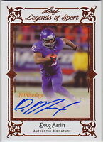 2012 LEAF LEGENDS OF SPORTS AUTO: DOUG MARTIN- RC AUTOGRAPH TAMPA BAY BUCCANEERS