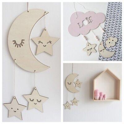 Nursery Children S Room Decoration Kids Bedroom Decor Dream Catcher Wooden Cloud Ebay