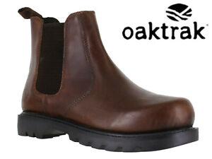 Hommes-Oaktrak-Distributeur-Bottes-En-Cuir-A-Enfiler-Marron-Bottines-Chelsea-Rocksley