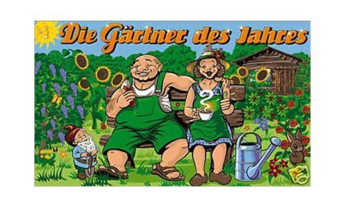 V21 90x150cm Gärtner Ehepaar des Jahres Fahne