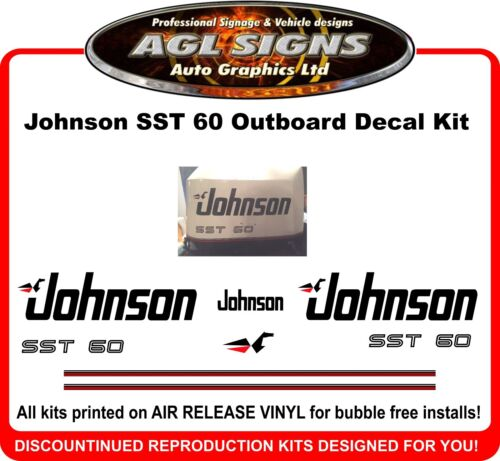 Johnson SST 60  Reproduction Outboard Decal Kit   graphics