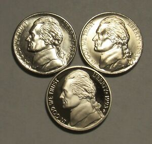 1993-P-D-amp-S-Jefferson-Nickels-in-BU-and-Proof-condition