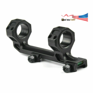 """1/"""" 25mm 30mm QD Rifle Scope Mount Ring W// Bubble Level For Picatinny Weaver Hunt"""