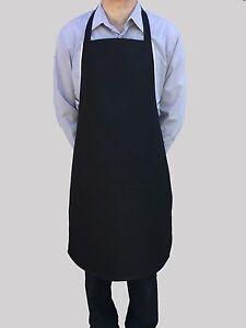 Brand New Hommes Femmes Tablier Noir Travail Chef Cuisinier Restaurant Café Shop-afficher Le Titre D'origine Veluehu9-07230347-670347090