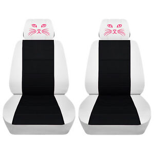 Remarkable Details About Fits Selected Toyota Models White And Black Cat Eye Seat Covers Airbag Friendly Creativecarmelina Interior Chair Design Creativecarmelinacom
